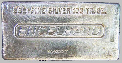100 Oz Engelhard Silver Bar 100 Oz Jm 999 Bullion Bars