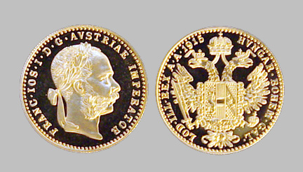 1915 Austrian Trade Ducat Gold Coin