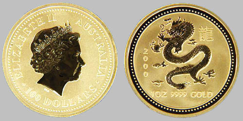 Australian Gold Dragon Coins