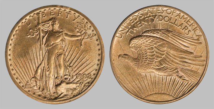 Gold Saint Gaudens U S 20 Coins Xf Extra Fine For Sale