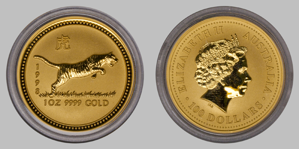 Australia Gold Chinese Tiger