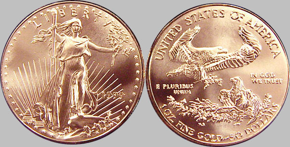 Gold American Eagle Coins 50 Gold 1 Oz Bullion Coin