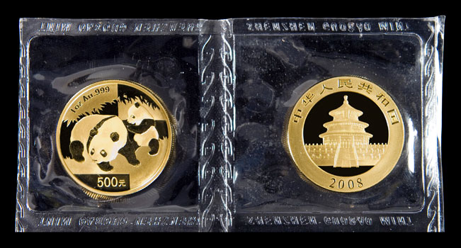 Chinese Gold Panda 1 Oz Coins From China