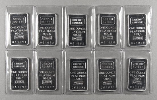 Credit Suisse Platinum Bars Credit Swiss 1 Oz 9995 Platinum