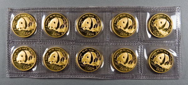 Chinese Gold Panda Coins For Sale 1 2 Oz Chinese Pandas