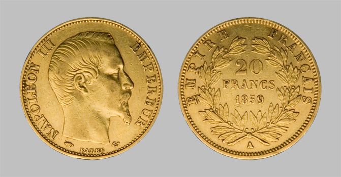 Bullion Gold Coins Napoleon Iii 1867 Oz