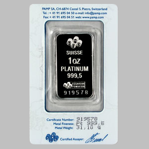 Platinum Bars For Sale Pamp Suisse 1 Oz 9995 Bullion
