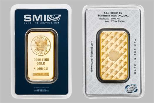Sunshine Mint Gold Bars