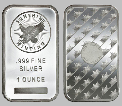 Sunshine Mint Silver Bars