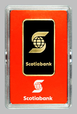 Bullion Gold Bars Scotiabank 9999 Gold 1 Oz Bullion Bar