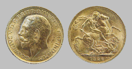 British Sovereign (King) Gold Coin